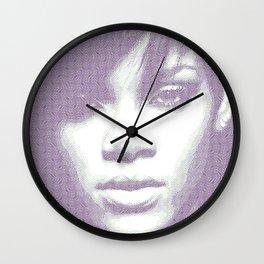 Rihanna - Engraving Wall Clock