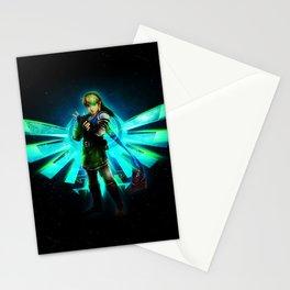Link infront of Legend of Zelda Logo Stationery Cards