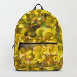 Watercolor Tree, Part, Aspen 01, Moraine Park, RMNP, Colorado, Gleaming Gold Backpack