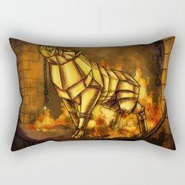 The Golden Boar Rectangular Pillow