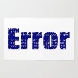 Error Blue Screen Glitch Text Rug