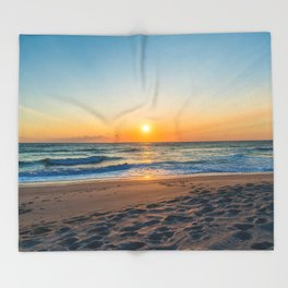 Canaveral National Seashore Sunrise Throw Blanket