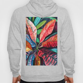 Colorful Tropical Leaves 2 Hoody