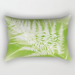 Airbrushed bracken frond and grasses Rectangular Pillow