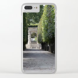 Tuileries Garden Clear iPhone Case