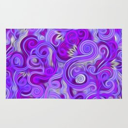 Lavender Swirls Abstract Rug