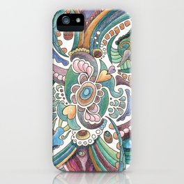 Twisted love for a sea butterfly iPhone Case