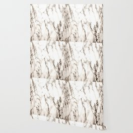 Brown Veined Marble Wallpaper