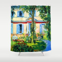 Edouard Manet House in Rueil Shower Curtain