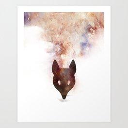 Abstract Colourful Fox Print Art Print