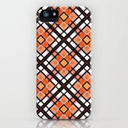 Autumn Inspired Orange Brown and White iPhone Case