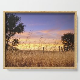 Evening Glow a country sunset Serving Tray