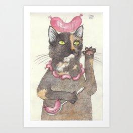 """""""Wurst cat"""" Art Print"""