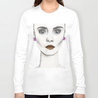 cara Long Sleeve T-shirts featuring Cara by Vicky Ink.
