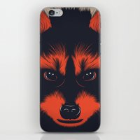 raccoon iPhone & iPod Skins featuring raccoon by CranioDsgn