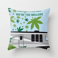 No763 My We are the Millers minimal movie poster Throw Pillow
