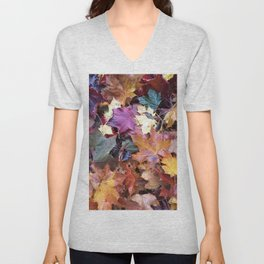 Fallen Fall Leaves Unisex V-Neck