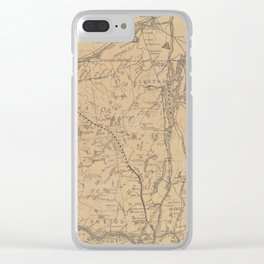 Vintage Adirondack Mountains Railroad Map (1895) V.2 Clear iPhone Case