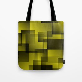 Pattern of golden squares with shadow and volume. Tote Bag