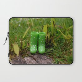 Boots in the grass Laptop Sleeve
