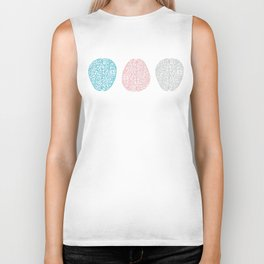 Pastel Brains Pattern Biker Tank