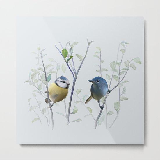 2 birds in tree Metal Print