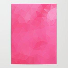 """Raspberry jam"" triangles design Poster"
