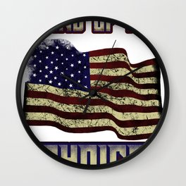 New american citizen land of my choice us shirt Wall Clock