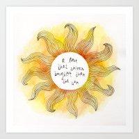 Brighter Than The Sun Art Print