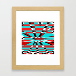 Grid Square TV Crazy Framed Art Print