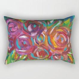 Drip Flowers Rectangular Pillow