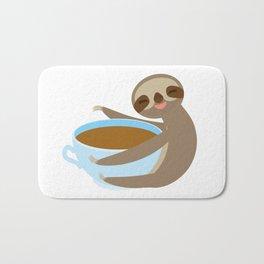 sloth & coffee 2 Bath Mat