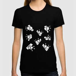 Hearts with Stitches - Black Outline T-shirt