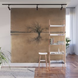 Roots And Trees. Hand Painted Photograph Wall Mural