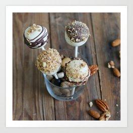 Nut Cake Pops Art Print