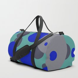 bubbles blue grey turquoise design Duffle Bag