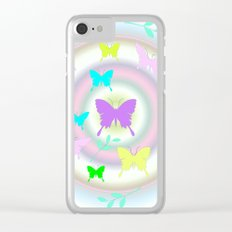 butterfly station Clear iPhone Case