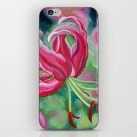 lily iPhone & iPod Skins featuring lily by Beth Jorgensen