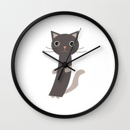 Just another cat Wall Clock