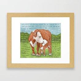 Cows 2-Hereford Framed Art Print
