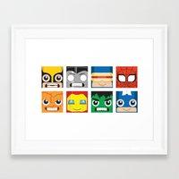 superheros Framed Art Prints featuring Baby Superheros by Jconner