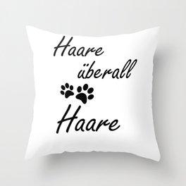 Hair Everywhere Funny Dog Gift Throw Pillow