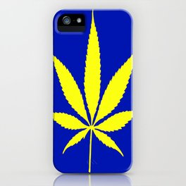 Weed Hash Bash Blue iPhone Case
