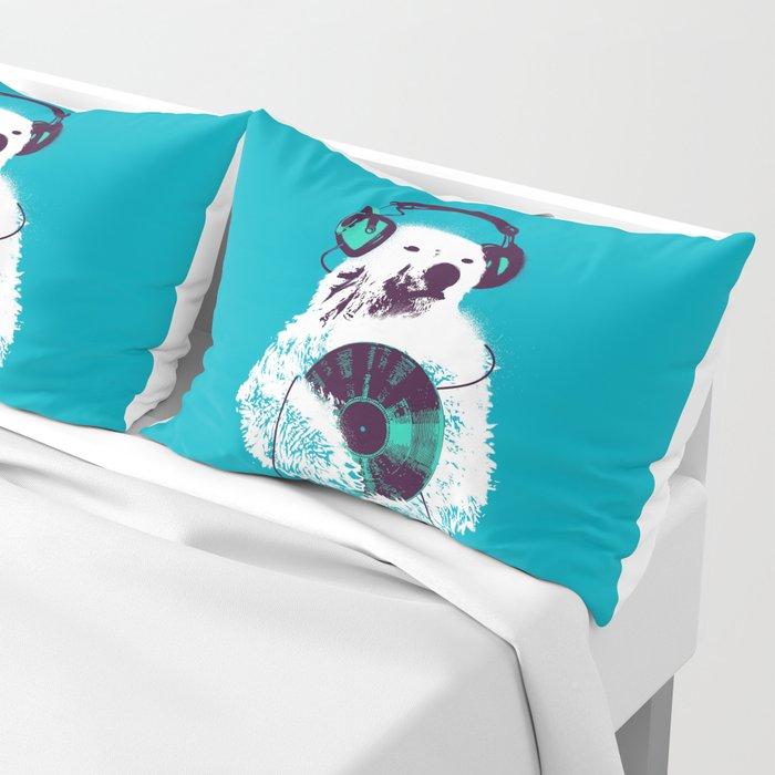 Record Bear Pillow Sham