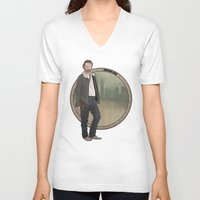 grimes V-neck T-shirts featuring Rick Grimes by Pikeymin