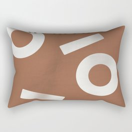 Tan Keyhole Linen Rectangular Pillow