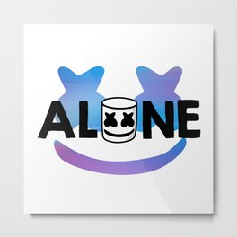 marshmello head Metal Print