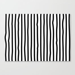 Black and white drawing stripes - striped pattern Canvas Print