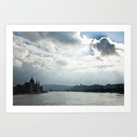 budapest Art Prints featuring Budapest by Daniel Fornies