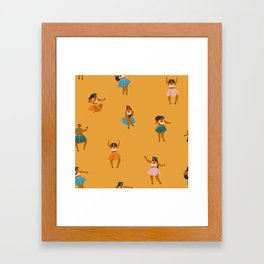Hula party Framed Art Print